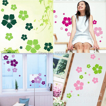 Flowers DIY Removable wall stickers Decal home Bedroom for Kids Children stickers Mural Room Decor Mural DIY Wallpaper for Room