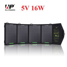 ALLPOWERS Portable 16W Dual Output Waterproof Foldable 5V Solar Panel Charger Solar Mobile Phone Battery Charger