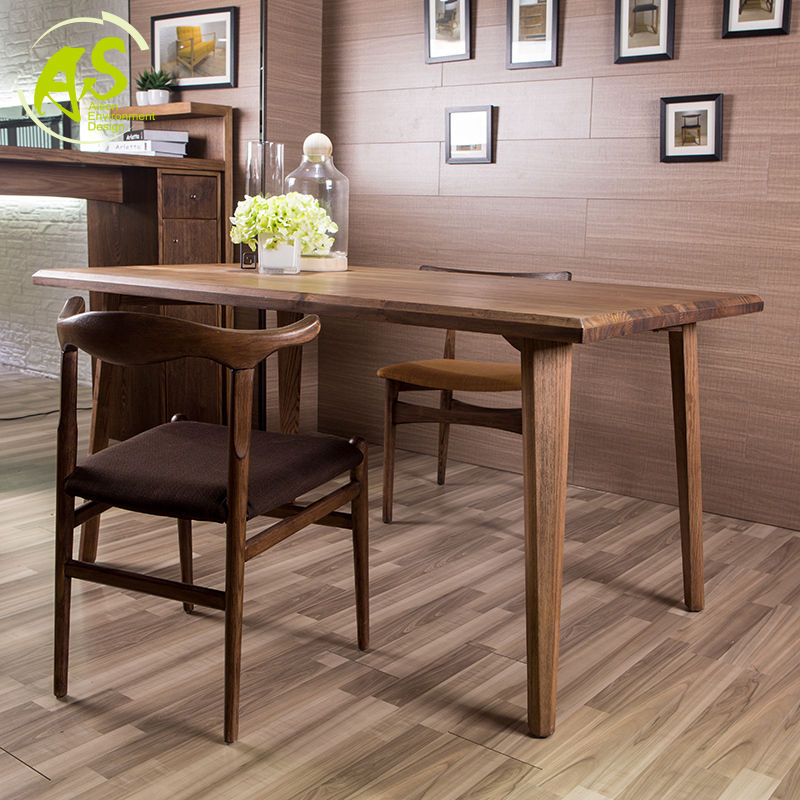 Solid Wood Dining Room Tables ~ Aisonhome import solid wood eat chair modern simple