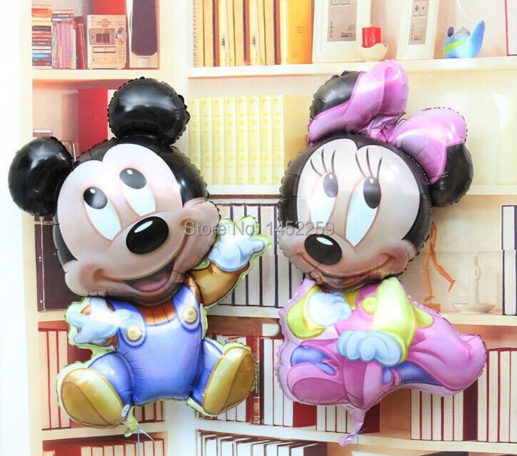 Free shipping 2pcs / lot Import aluminum Mickey Minnie childrens birthday party balloon toy wholesale <br><br>Aliexpress
