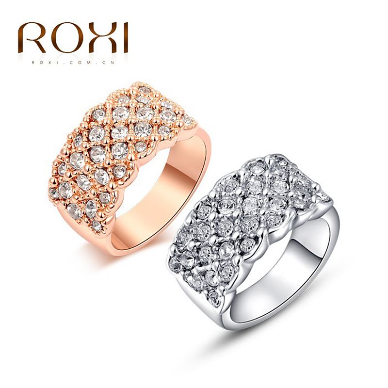 Гаджет  ROXI classic rings,rose gold plated top quality make with genuine Austrian crystals, fashion jewelry,2010016315 None Ювелирные изделия и часы