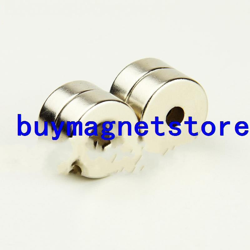 10pcs 25mmx10mm Hole:6mm Disc Disk Rare Earth Neo Neodymium Strong fridge Magnets<br><br>Aliexpress