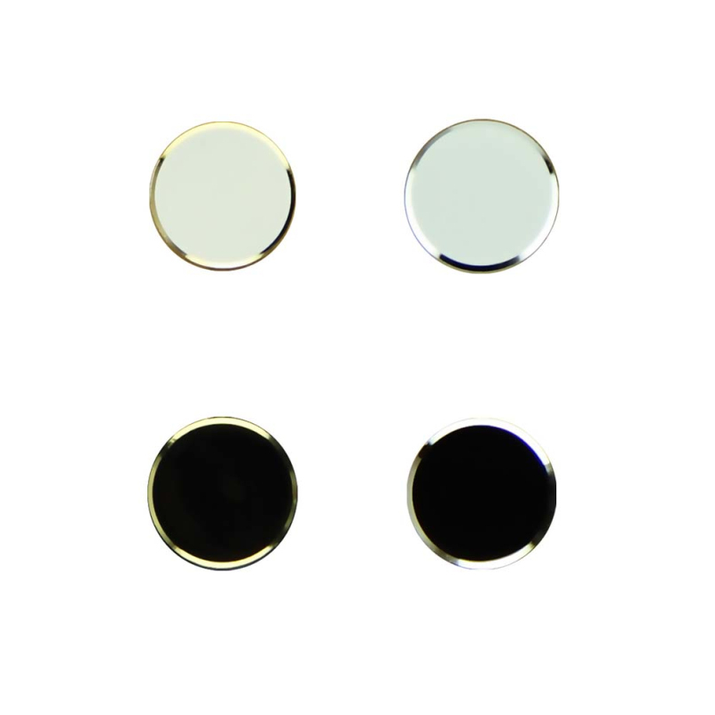 Attractive 2Pcs Black+ 2Pcs White Metal Aluminum Home Button Keypad Sticker For iPhone 5 5S Wholesale Free Shipping JE24