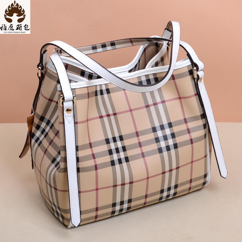 New Plaid Women Messenger Bags Famous Brands Women Shoulder Bag Genuine Leather Ladies Handbag Luxury Handbags Branded Bags