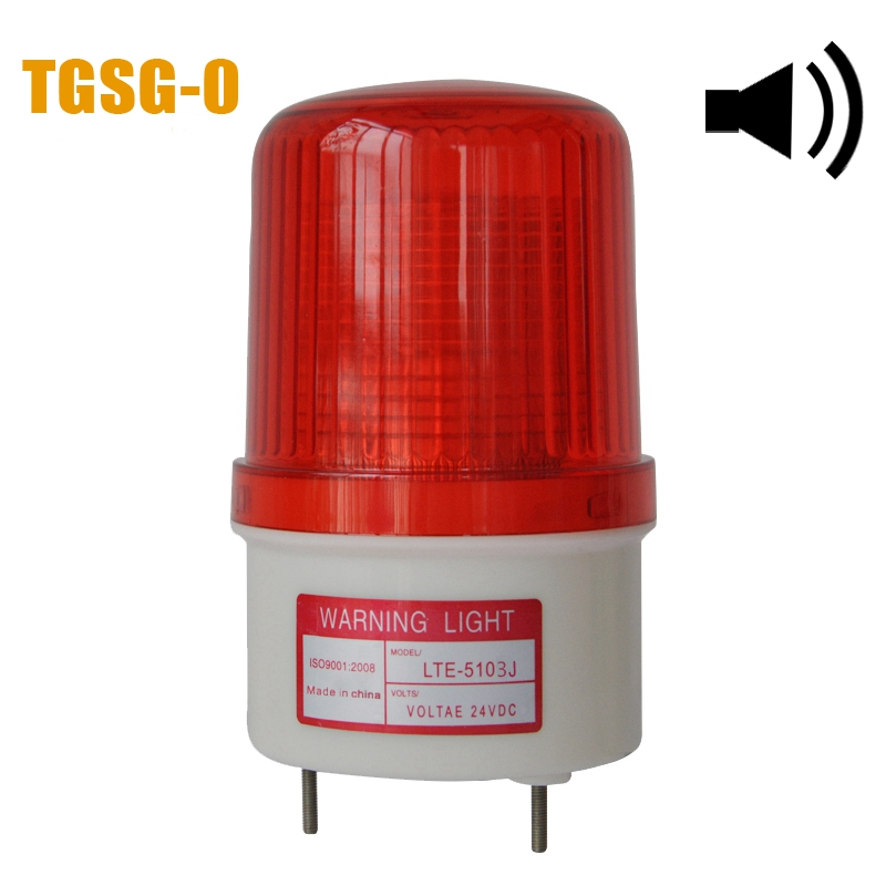 LTE-5103J Competitive factory price DC12/24V traffic alarm lighting lights led flash strobe warning light with 85dB buzzer(China (Mainland))