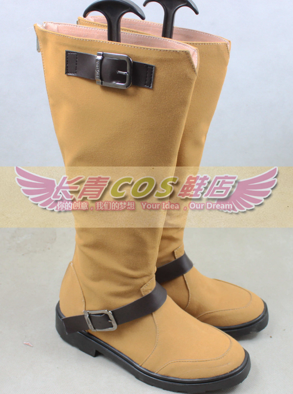 Noragami YATO lighter color ver Cosplay Boots Shoes shoe boot #CQ010 Custom made Hand made(China (Mainland))