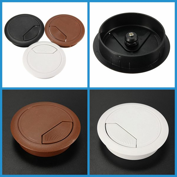 New Arrvial!!!60mm Computer Desk Grommet Table Cable Tidy Outlet Port Surface Wire Hole Cover Excellent Quality(China (Mainland))