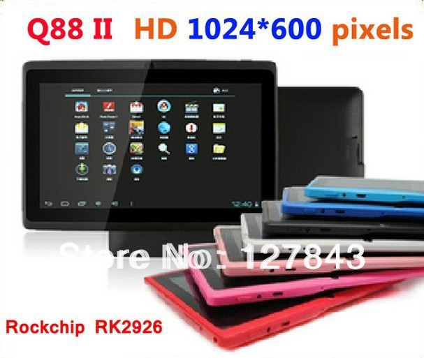"7"" tablet PC dual core tablet Q88 with HD resolution screen RK3026 dual camera with Cheap price leading tablet pc manufacturer(China (Mainland))"