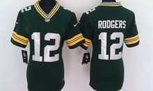 2016 Women Ladies Aaron Rodgers,eddie lacy,Randall Cobb,Montgomery,Clay Matthews,100% stitched logo(China (Mainland))