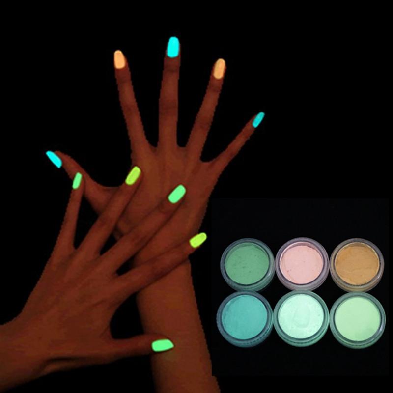 luminous nail polish High brightness luminous powder Phosphor fluorescent paint phototherapy general 10colors crystal armour GYH(China (Mainland))