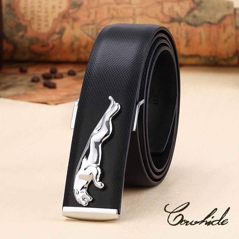 Free shipping men belt 2015 new fashion gold Jaguar mens luxury belts(China (Mainland))