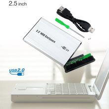 IDE Hard Drive USB 2.0 2.5″ IDE HDD External Enclosure Case Silvery USB Cable EL6167