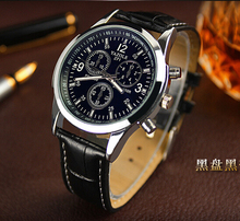 Luxury High Quality Black Brown Genuine Leather Quartz Business Dress Wrist Watch Wristwatches for Men Male