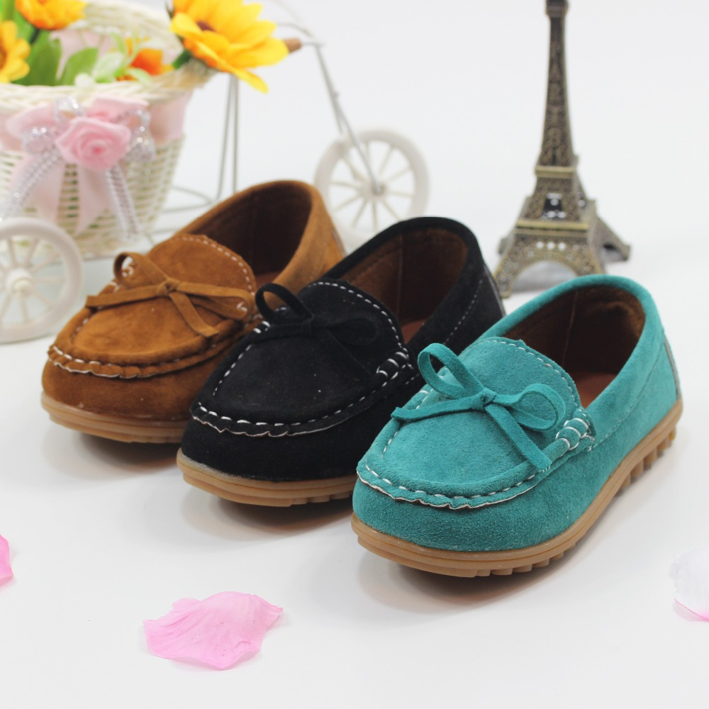 Size 21-30 Children Shoes boys and girls Leisure Sports Shoes Boat Shoes Cow Muscle Soft Kids Sneakers(China (Mainland))