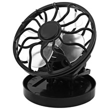 Black Solar Fan Clip-on Cooling Cell Cooler for Travel Camping Cooling Fan Portable Perfect Design Solar Power Panel Mini Fan(China (Mainland))