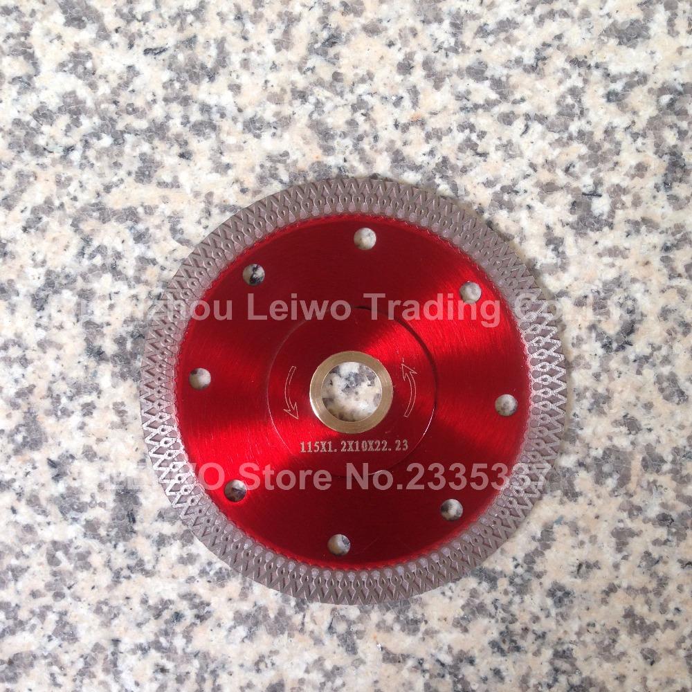 Diamond Turbo Saw Blade 4.5 inch 115 mm Ultra Thin Ceramic Tile Tools Diamond Disk Inner Hole 22.23 mm 4 Pcs/lot(China (Mainland))