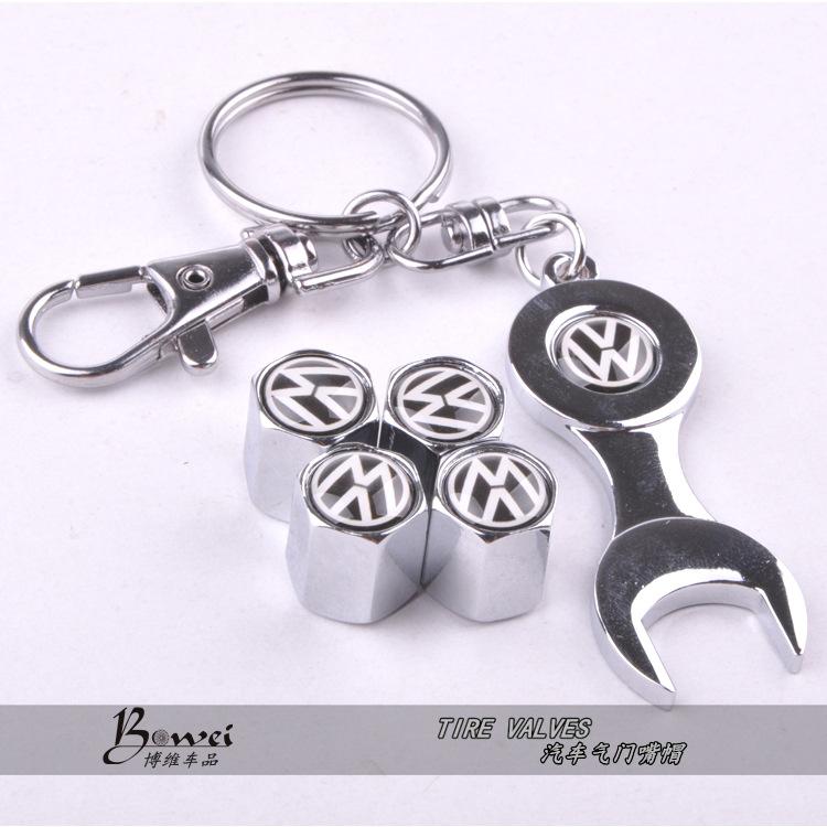 Новый горячая распродажа автомобиля колесо шина колпачки с мини гайковерт и брелок для фольксваген ( 4-Piece / упаковка )