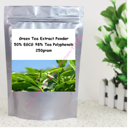 250g (8.8oz) Pure Green Tea Extract Powder 50% EGCG 98% Tea Polyphenols antioxidant  free shipping