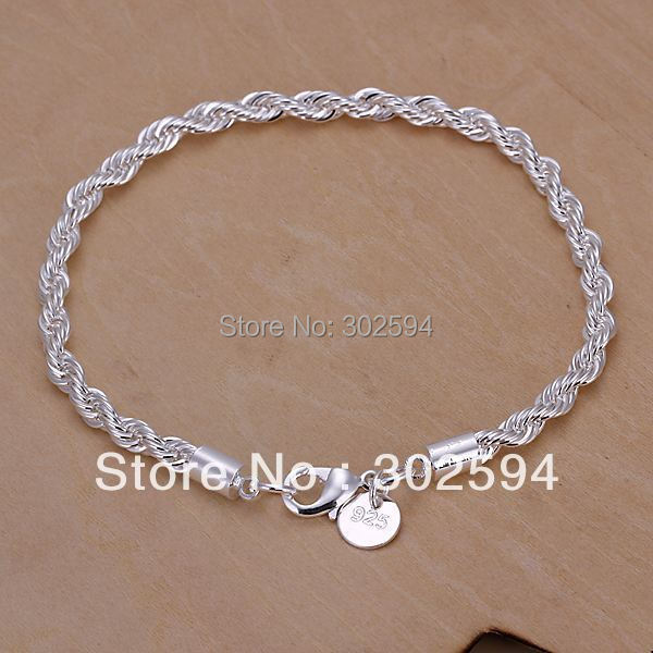 Гаджет  Popular factory wholesale H207 Beautiful fashion Elegant 925 silver charm Rope Lovely Bracelet Good quality Gorgeous jewelry None Ювелирные изделия и часы