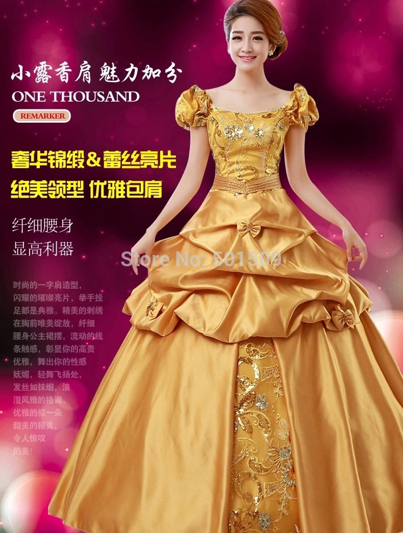 Popular Women Princess Gown Costume-Buy Cheap Women Princess Gown ...