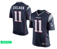 Men's 2016 free shipping,100% Stitiched,New England Patriots Julian Edelman #11(China (Mainland))