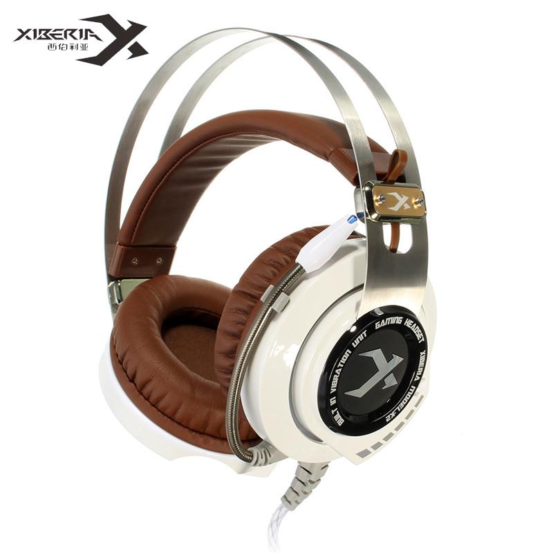 XIBERIA K2 Over-ear Gaming Headset Earphone Headband Headphone with Mic Stereo Bass Music Breathing LED Light for PC Game