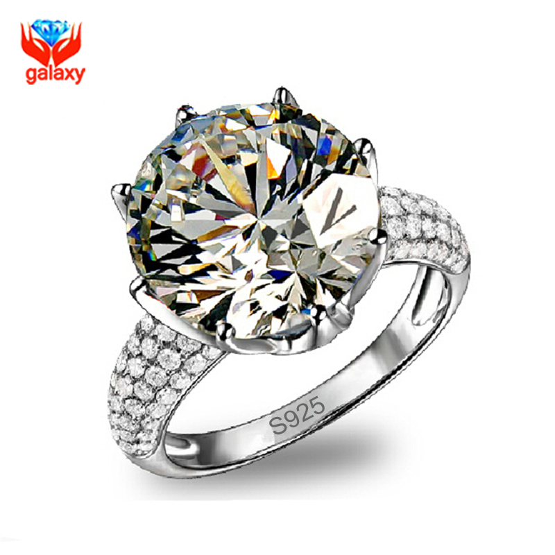 Luxury Big 11*11mm CZ Diamond Wedding Rings for Women Real 925 Sterling Silver Ring Bridal Engagement Jewelry Ring Anillo ZR133(China (Mainland))