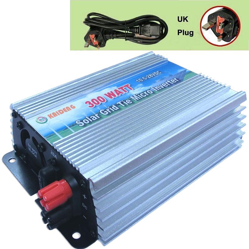 300W Inverter Grid Tie Inverter Solar Power Inverter 300 Watt 220V/230V/240V Pure Sine Wave Inverter CE RoHS UK Plug(China (Mainland))