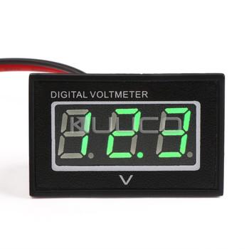 5 PCS/LOT Waterproof Voltmeter DC 2.70~30.0V Green Led Digital Voltage Meter Mini Volt Meter for Car Motorcycle etc