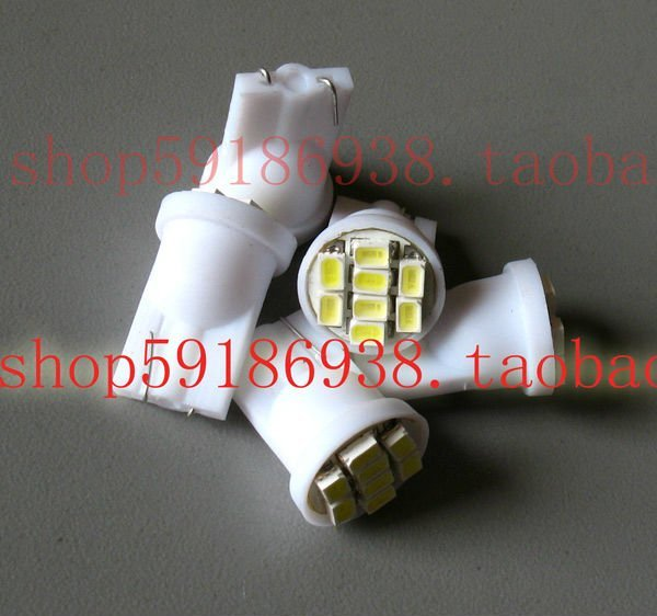 Wholesale 200pcs/lot white T10 194 168 192 W5W 1206smd 8 smd super bright Auto led car  lighting wedge
