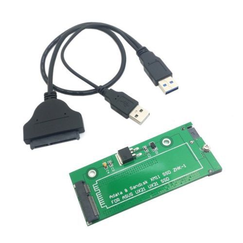 """Details about SATA Adapter USB 3.0 Cable For ASUS EP121 UX21 UX31 SANDISK ADATA XM11 SSD 2.5""""(China (Mainland))"""