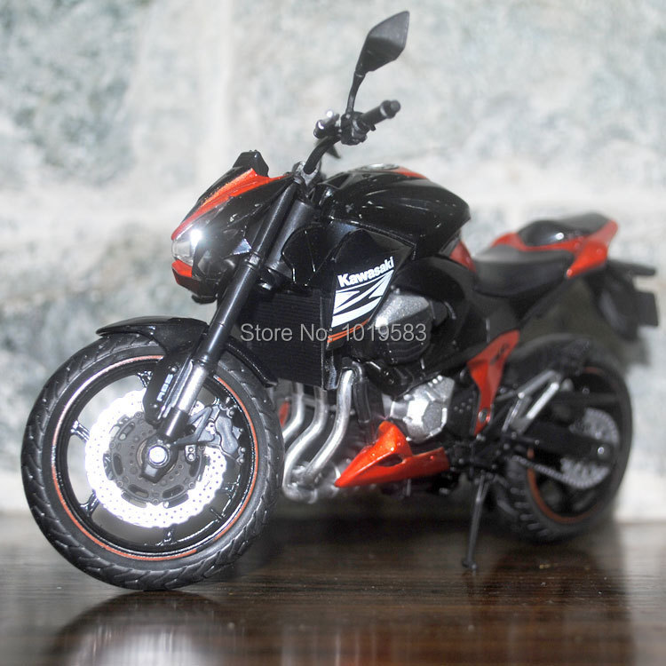 Brand New Cool 1/12 Scale Kawasaki Z800 Super Motorbike Diecast Metal Motorcycle Model Toy For Gift/Kids/Children -Free Shipping(China (Mainland))