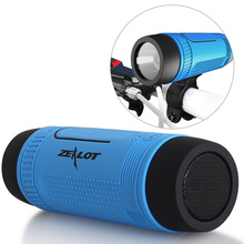 Zealot S1 Bluetooth Subwoofer Altavoz Portátil Al Aire Libre Banco de la Energía + luz LED + Bick Montaje