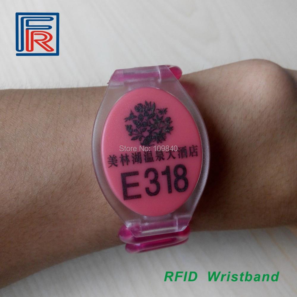 Custom Printing Logo or number option colors RFID 125KHz ABS RFID Wristband waterproof bracelet free shipping 500pcs/lot(China (Mainland))