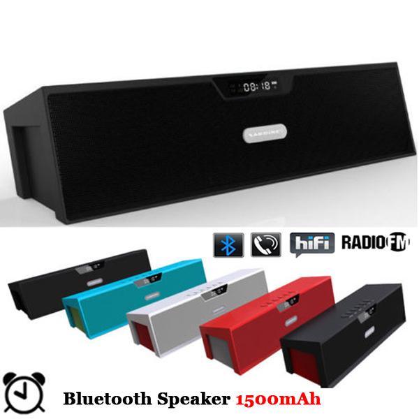 Аудио колонка LEMFO Bluetooth Box 1500mAh 10W AUX FM TF LCD bluetooth speaker цена и фото
