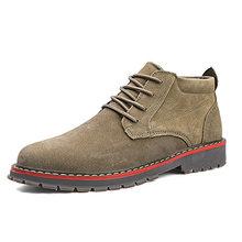 Deri Haisum çizmeler retro erkek domuz süet ayakkabı takım askeri çizmeler eğilim erkek botları 78C809Q184(China)