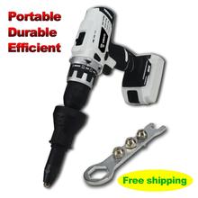 Электрический заклепки пистолет клепки toolcordless клепки адаптер патрон гайка инструмент бесплатная доставка