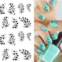 1 sheet Hot Leopard Nail Art Water Transfer Stickers Nails Wraps DIY Beauty Nail Art Decals Decorations Nail Tools BLE581(China (Mainland))