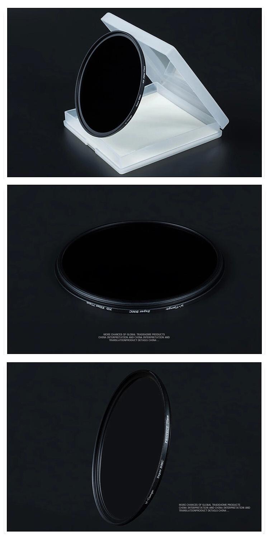 WTIANYA 72mm SLIM ND1000 Multi-Coated Glass Neutral Density 3.0 ND Filter (10 Stop) for 72 mm Digital Camera Lens