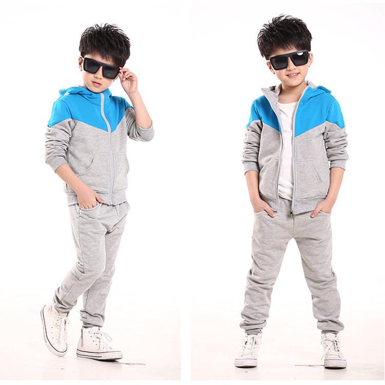 2016 Spring Autumn kids clothes sets jacet pants cotton boys Sport suit set long sleeve sets children hoodies +pants 2 pcs
