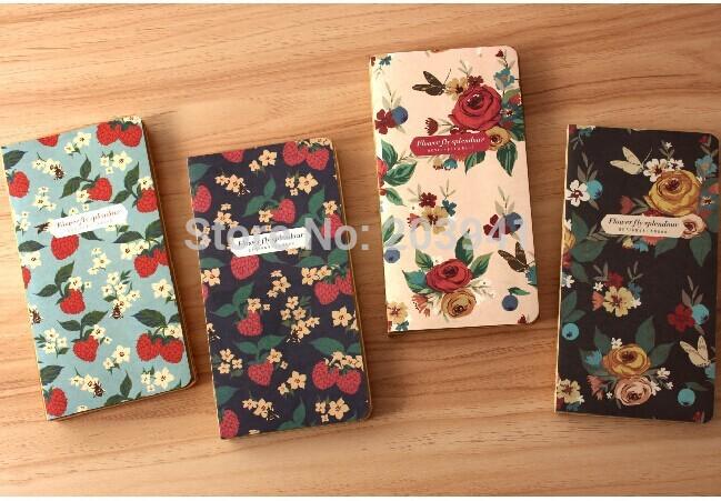 NEW Vintage butterfly flower series Kraft Paper notebook / DIY Journal diary/ pocket 48K craft book /agenda/wholesale<br><br>Aliexpress