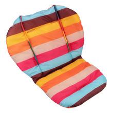 Cheap Sale 1Pcs Orange and Purple Strips Waterproof Cutton Baby Stroller Cushion Pad Car Seat Pads