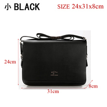 Free shipping! Authentic brand composite leather bag casual male shoulder briefcase kangaroo messenger bag men's travel bags(China (Mainland))