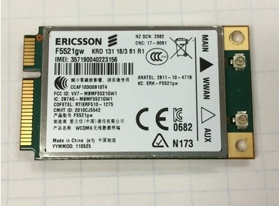 F5521GW 21M WCDMA 3G Ericsson Wireless 3G Mini PCIE Card for Dell 3G Card GPS(China (Mainland))