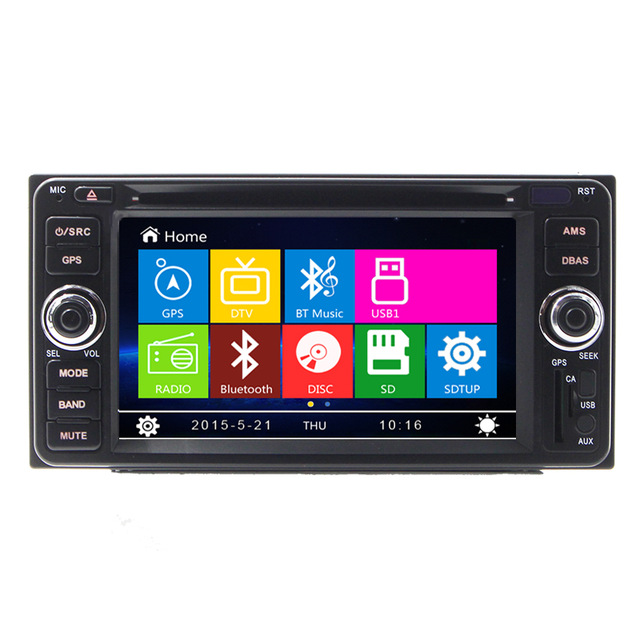 6.2 inch Car DVD GPS Navigation System for Toyota Corolla 2002 2003 2004 2005 2006 2007 DVD with bluetooth radio free map(China (Mainland))