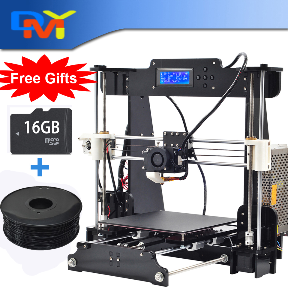 Prusa I3 X 3D Printer Diy Full Acrylic Frame High Precision Impressora Kit with 1 roll