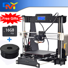 Free shipping size 210*210*210mm High Quality Precision Reprap Prusa i3 DIY 3d Printer kit with 2kg Filament 8GB SD card and LCD