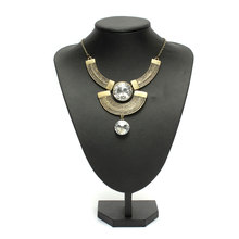 2015 New Vintage Women's Necklace Gothic BronzeChunk Moon Rhinestone Chain Collar Choker Fashion Trend Luxury Jewelry For Lady