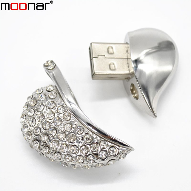 Hot Jewelry Heart Shape USB Flash Drive Real Capacity 4GB USB Pen Drive Necklace Pendants Pendrive Usb Disk X90*DA1390W1#M10(China (Mainland))