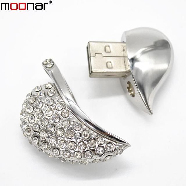 Hot Jewelry Heart Shape USB Flash Drive Real Capacity 4GB USB Pen Drive Necklace Pendants Pendrive Usb Disk X90*DA1390W1#M10(China (Mainland))